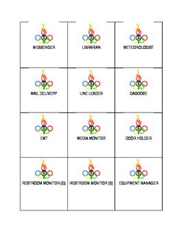 Olympic Job Cards
