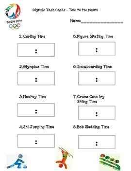 Olympic Task Card Recording Sheet