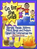 Go For the Gold! Olympics Clip Art Graphics: Medals, Ribbo