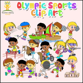 Olympics / Olympic Sports Clipart 64 Images color b/w