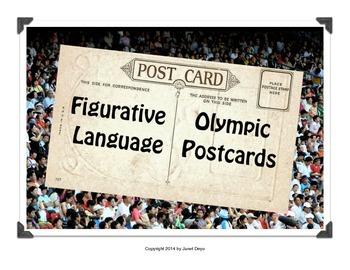 Olympics Postcards Figurative Language Workbook