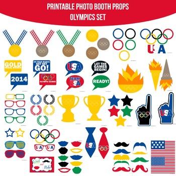 Olympics Printable Photo Booth Prop Set