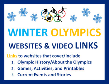 Olympics for Kids FREE: Links to Activities, History, Prin