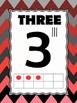 Ombre Chevron Inspired Number Posters