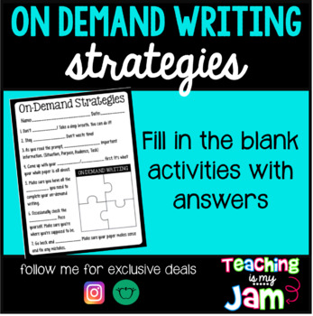 On-Demand Writing Strategies