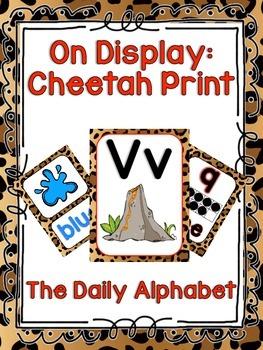 Cheetah Classroom Decor