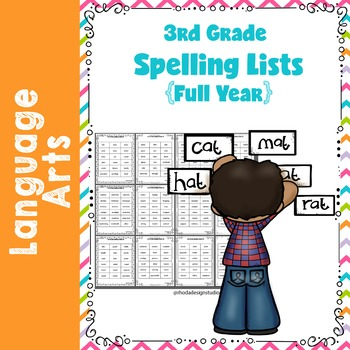 On Level Spelling Lists {Full Year 3rd Grade}