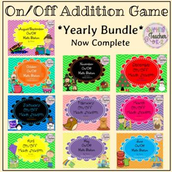 {BUNDLE} Monthly On Off Addition Games