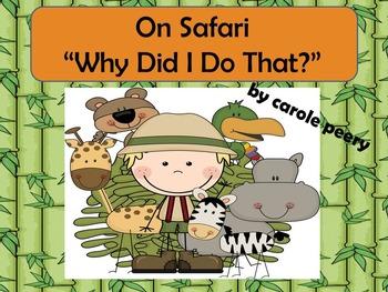 "On Safari Math Game ""Why Did I Do That?"""