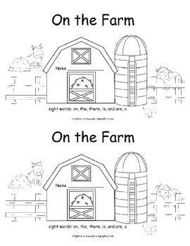 On The Farm- A Color Word Book