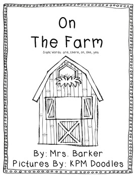 On The Farm {An Emergent Reader}