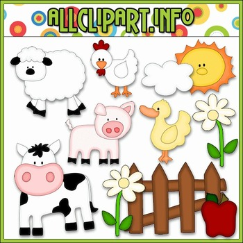 On The Farm Cutting File & Clip Art - Cheryl Seslar Clip Art