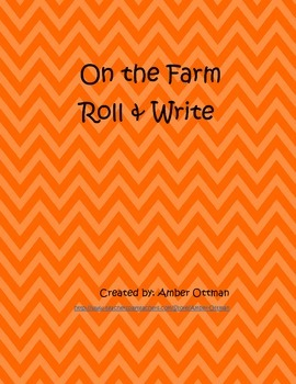 On The Farm Roll and Write