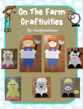 On The Farm/Farmer Crafts & Printables (6 CRAFTS!)