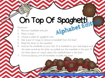 On Top Of Spaghetti Beginning Sound Edition
