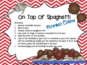 On Top Of Spaghetti Rhyming Edition