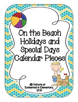 On the Beach Holiday Calendar Pieces