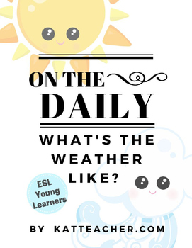 ESL On the Daily: Weather Board for Daily Review