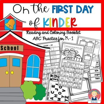 On the First Day of School {Reading and Coloring Booklet/A