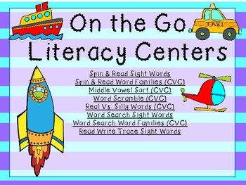On the Go Transportation Literacy Pack 2 (8 centers)