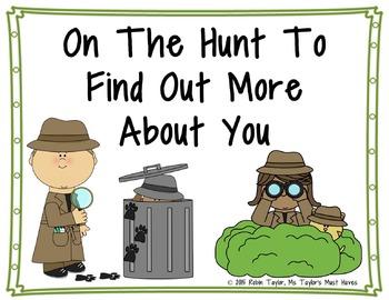 On the Hunt- Back to School Fun