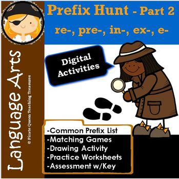 On the Hunt for Prefixes Part 2 (re-, pre-, in-, ex-, e)