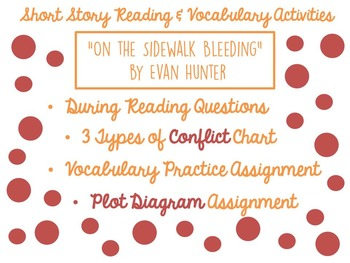 """On the Sidewalk Bleeding"" Reading and Vocabulary Activities"
