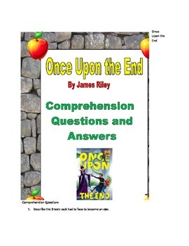 Once Upon The End Comprehension Questions and Answers
