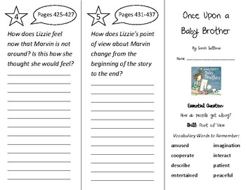 Once Upon a Baby Brother Trifold - Wonders 2nd Grade Unit