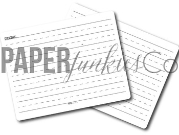 "One {1""} Handwriting Paper Printable"