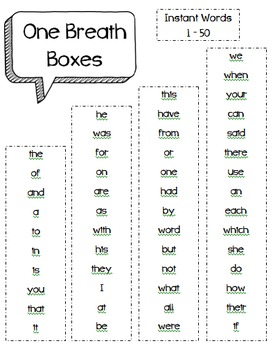 One Breath Boxes