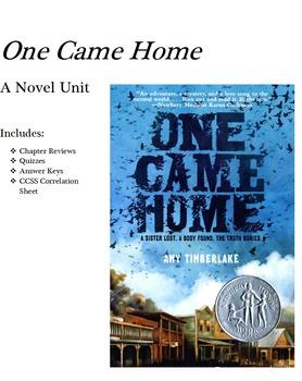 One Came Home Novel Unit
