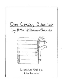 One Crazy Summer - Literature Unit - Common Core Aligned