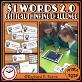 CRITICAL THINKING: One Dollar Words 2.0