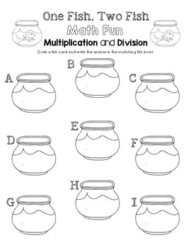 One Fish, Two Fish Math Fun - Multiplication and Division