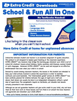 One Full Day Of Intermediate School From EXTRA CREDIT™!