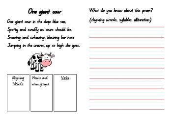 One Giant Cow Poem Analysis