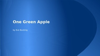 One Green Apple Vocabulary Lesson