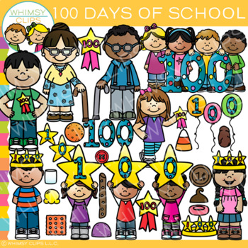 100 Days of School Clip Art