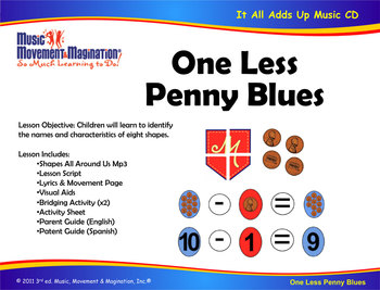 One Less Penny Blues Song (Mp3) and Lesson Materials & Activities
