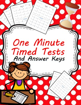 One Minute Timed Test for Addition and Subtraction (0-12)