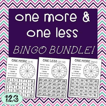 One More & One Less Bingo Bundle