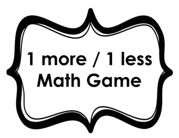 One More One Less Math Game Template