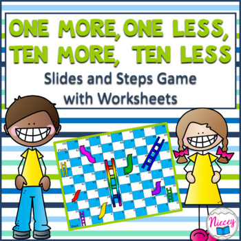 Ten More, Ten Less Slides and Steps Game