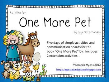 One More Pet Activities - Aligned to Common Core