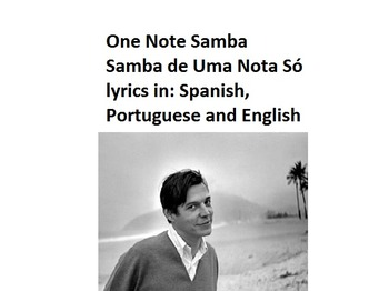 One Note Samba--lyrics in Portuguese, Spanish & English