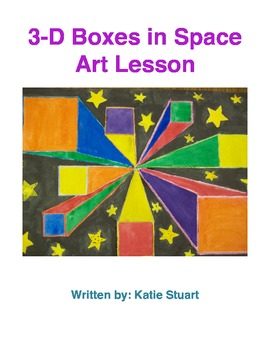 One Perspective Boxes in Space Art Lesson Plan!