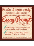 One Prompt, Three essay choices!