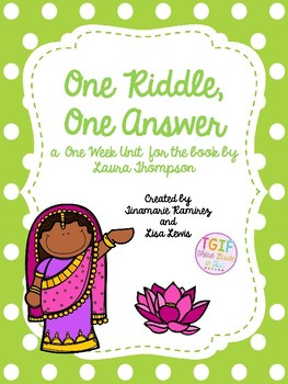 One Riddle, One Answer- a One Week Reading Unit for the st