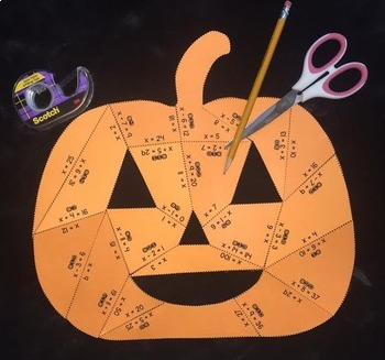 One- Step Addition & Subtraction Equations (Pumpkin PUZZLE)